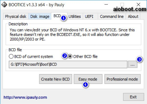 Boot Windows VHD from USB in UEFI and Legacy BIOS mode