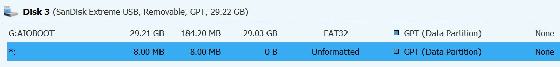 USB multiple partitions