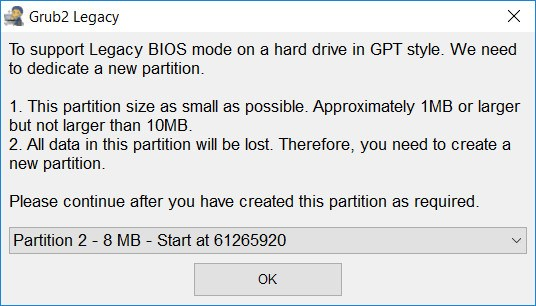 Install Grub2 on GPT