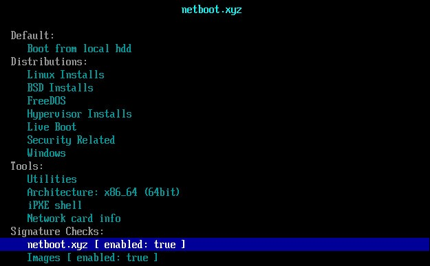 Boot netboot.xyz from Grub2, Grub4dos and Syslinux