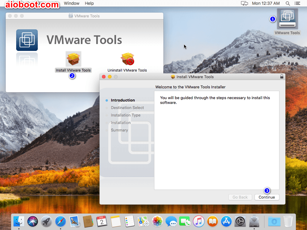 vmware install mac on windows