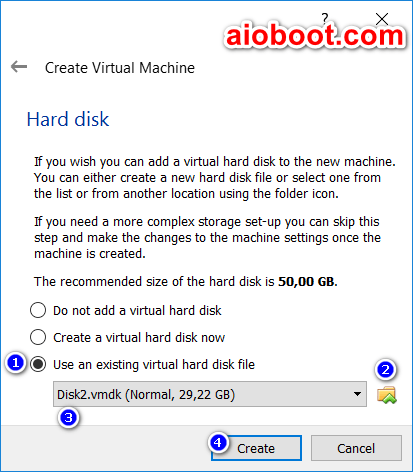 How to boot from USB in VirtualBox - AIO Boot