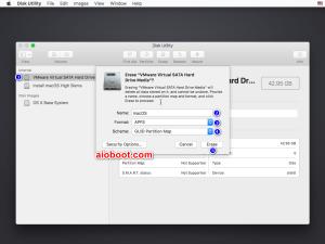 macOS High Sierra Disk Utility