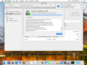 Convert to APFS with Disk Utility
