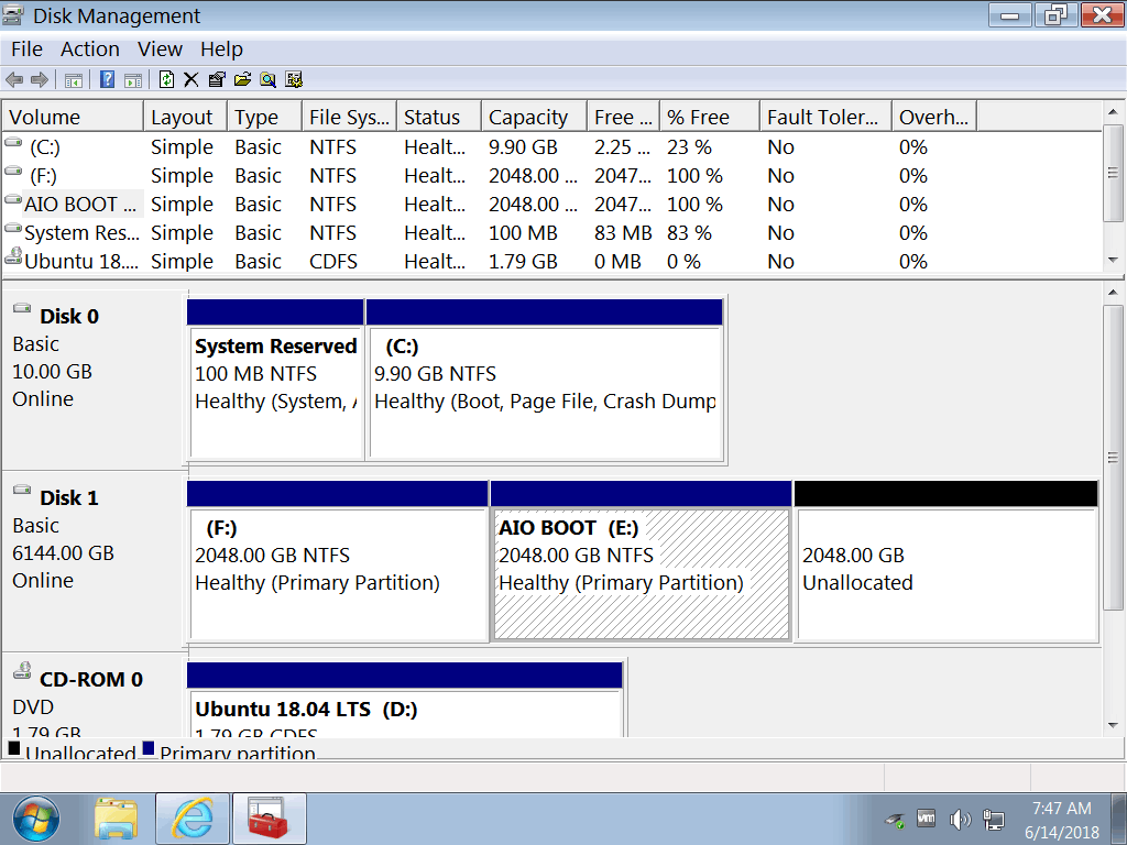 how to partition a 4tb hard drive windows 10