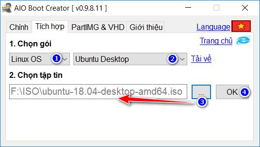 Tạo bộ cài Ubuntu từ file ISO trên Windows