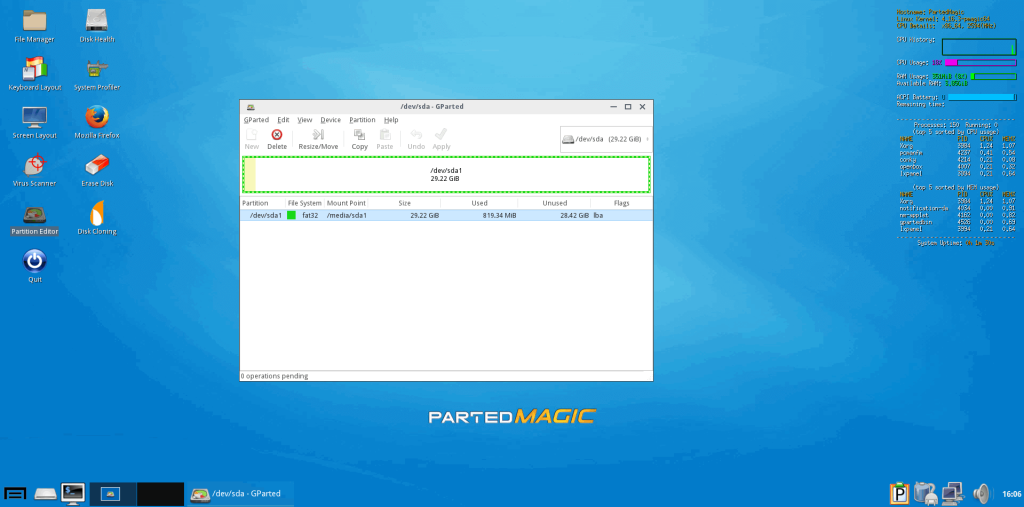 How to install Parted Magic on USB and Hard Drive